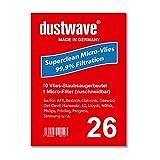 Sparpack - 10 Staubsaugerbeutel geeignet für Superior - BS max. 3000W Staubsauger - dustwave Markenstaubbeutel / Made in Germany + inkl. Micro-Filter