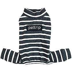 Feidaeu Vêtements pour Animaux de Compagnie rayé Coton Doux antibactérien Peau Douce et Confortable Combinaison Pyjamas Chiens Costume de Chat