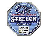Angel Ficelle konger cristal Clear fluorocarbone Coated 0,12–0,50mm/150m monofile Super puissant. (0,05€/m), Transparent, 0,50mm / 17kg