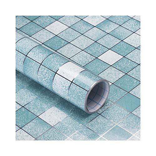 YYZC 0,45x3 Mt Mosaik Anti Öl Wandaufkleber PVC Selbstklebende Tapete Küche Herd Kunst Aufkleber Badezimmer Fliesen Wasserdicht Aufkleber (Color : Brown, Dimensions : 45cmX3m) -