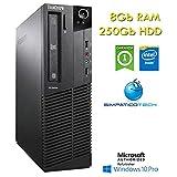 PC Lenovo Thinkcentre M82 SFF Intel Pentium G2020 8Gb Ram 250Gb DVD Windows 10 Professional con Licenza Nuova Simpaticotech MAR Microsoft Authorized Refurbisher (Ricondizionato)