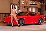 Fast & Sexy, Inc. Bikini Model with Porsche 911 Poster Poster (24x36 inches)