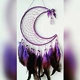 letscatchdreams Dream Catcher- Crescent Moon Luna Dream Catcher Half Moon Crescent Dream Catcher