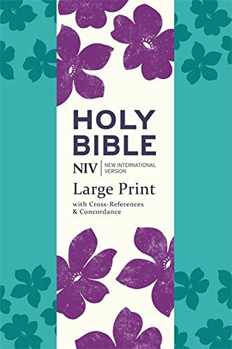 NIV Large Print Single-Column Deluxe Reference Bible: Teal Soft-tone (New International Version)