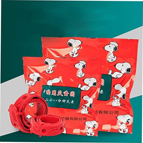 Kongqiabona Praktisches insektizides Haustier außer Flohhalsband Katzen Hunde Zusatzring Schädlingsbekämpfung Moskito Flohabweisendes Halsband