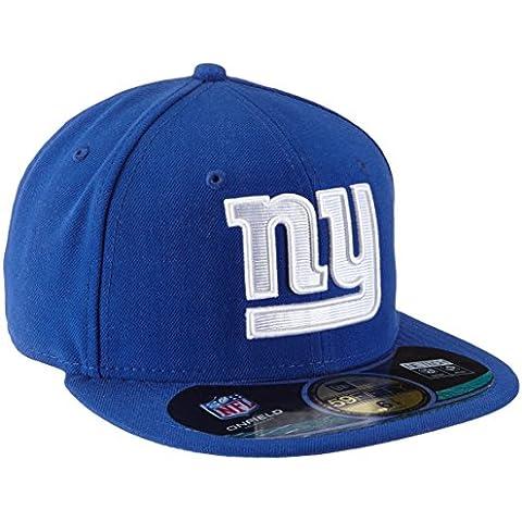 New Era Gorra de béisbol para adulto gorro de NFL ON FIELD 59 FIFTY fitted gigantes de Nueva York, todo el año, unisex, color Azul - Team, tamaño 7 1/2