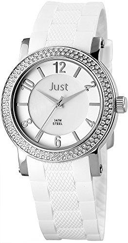 Just Watches 48-S9048-SL - Orologio da polso donna, pelle, colore: bianco