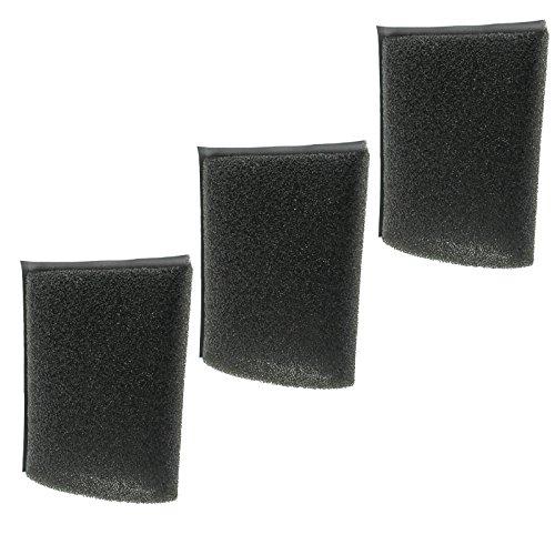 spares2go Schaumstoff Filter für Kärcher Staubsauger (Pack von 3)