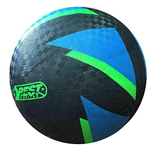 �-Fußball Glow In The Dark, Ball leuchtet im Dunkeln, Farbe: schwarz-blau Größe 5 ()