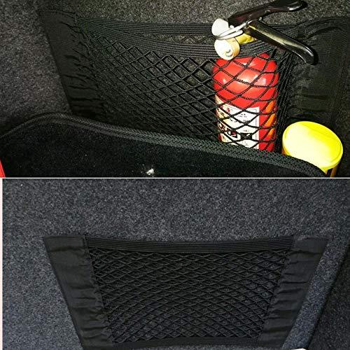 Aliaoforz Filet de Rangement pour Coffre de Voiture pour VW Polo BMW E46 Ford Focus Lada Granta Toyota Corolla Honda Civic Audi A3 Renault