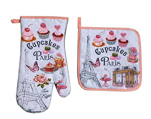 PARIS GLAM GM15 Cupcake Gant/Manique Coton Multicolore 29,5 x 17 cm