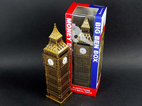 London-Big-Ben-Money-Box-Made-of-Plastic-with-Metal-Parts