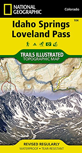 Idaho Springs / Loveland Pass: NATIONAL GEOGRAPHIC Trails Illustrated Colorado (National Geographic Trails Illustrated Map, Band 104) Idaho State Map