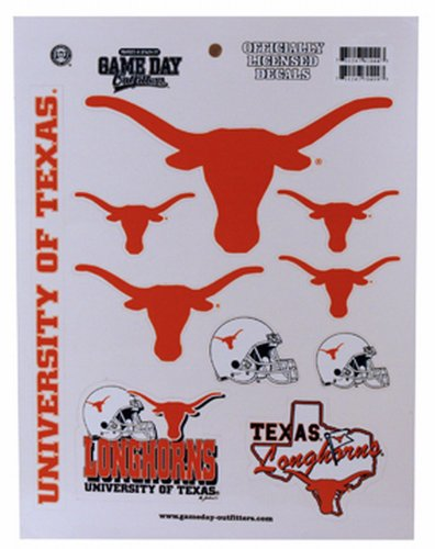 Game Day Outfitters NCAA Texas Longhorns Full Page Vinyl-Aufkleber