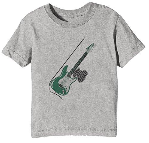 Funk Music Kinder Unisex Jungen Mädchen T-Shirt Rundhals Grau Kurzarm Größe XL Kids Boys Girls Grey X-Large Size XL -