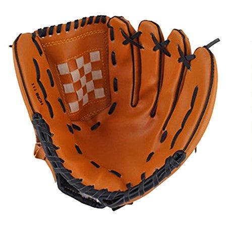 SaySure - Dark Brown Durable Men Softball Baseball Glove Sports Player Preferred #8477 - UK-BG-SPT-000238