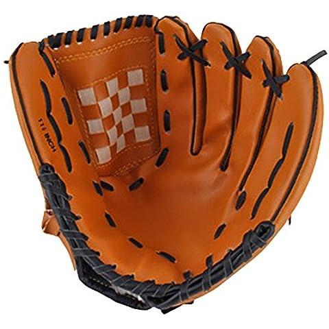 SaySure - Dark Brown Durable Men Softball Baseball Glove Sports Player Preferred #8477 - UK-BG-SPT-000238 by SaySure