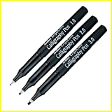 Artline Ergoline Calligraphy Fountain Pen Set - Pack of 3 (Black)