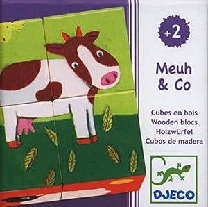 DJECO- RompecabezasPuzzles encajables y rompecabezasDJECORompecabezas Meuh & Co, Multicolor (1)