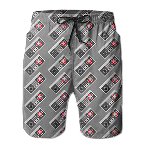 ZKHTO Video Game Men's Pocket Swim Trunks Lightweight Quick Dry Beach Board Shorts