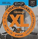 D'Addario EXP140 - Juego de Cuerdas para Guitarra Eléctrica de Acero y Níquel, 010' - 052, Transparente