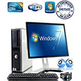 "Windows 7 – Dell OptiPlex Computer Tower with Large 19"" LCD TFT Flat Panel Monitor - Powerful Intel Core 2 Duo Processor - NEW 1000GB Hard Drive - NEW 4GB RAM - FREE OPEN OFFICE - DVD - WIFI Internet Ready - Keyboard & EXTERNAL SPEAKERS"