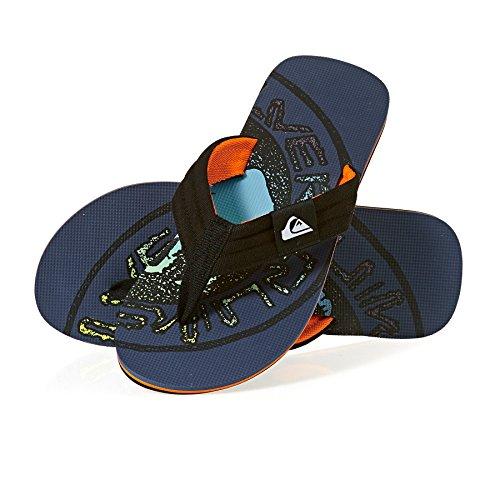 Quiksilver Molokai Layback Flip Flops - Black / Orange