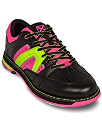 KR Strikeforce Damen Quest Bowling shoes- schwarz/pink/gelb