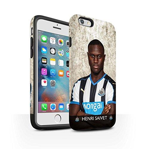 Officiel Newcastle United FC Coque / Matte Robuste Antichoc Etui pour Apple iPhone 6S+/Plus / Pack 25pcs Design / NUFC Joueur Football 15/16 Collection Saivet