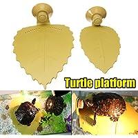 Plataforma de tortugas de jardín de Bureze Turtle Reptile Basking Terrace Leaves