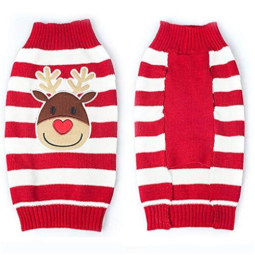 dingsheng Hundehütte, Leine, Haustierbeutel HaustierkleidungWelpenstrickjackenweihnachtshaustier kleidet rotes XXL