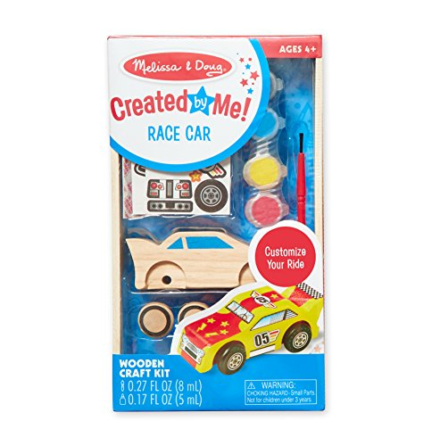 Melissa & Doug DYO Race Car, Multi Color