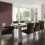SalesFever Esstisch aus Massivholz - ZORA Eiche White-Wash verschiedene Größen B 220 x T 100 x H 78 cm