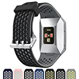 Cyeeson Fitbit Ionic Uhr Replacement Armband Weiche Silikon Farbe Adustable Mischfarbe Band Gel Wristband Strap Watch Band für Fitbit Ionic Smart Fitness Watch