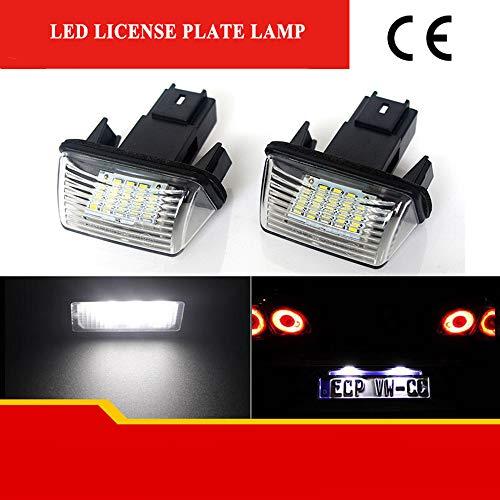 ZTMYZFSL 2 Stück Kennzeichenbeleuchtung, 6000K Xenon-Weiß für Ersatz, Nummernschilder Lampe Plug & Play, 1210 24-SMD Kennzeichen Beleuchtung 12V DC (Kennzeichen Beleuchtung)