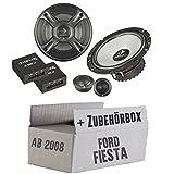 Ford Fiesta MK7 Front Heck - Helix - B 62C.2 - 16cm 2-Wege Lautsprecher System - Einbauset