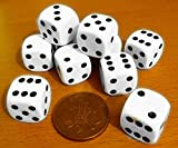 10 x 16mm Opaque Plastic Dice