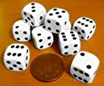 Dice, spot-pack of 10 x 16mm. diamete...