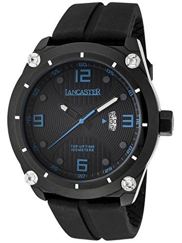 Lancaster Herrenuhr mit Silikonband Datum 10 Bar OLA0481NR/BL/NR