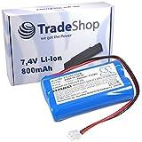 Hochleistungs Premium Akku 7,4V / 800mAh / Li-Ion für Gardena C1060 C 1060 plus Solar ersetzt 01866-00.600.02 018660060002