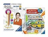 tiptoi Ravensburger Kinder Set - 00700 Stift mit Player und Buch Wieso? Weshalb? Warum? Die Welt der Fahrzeuge im Set