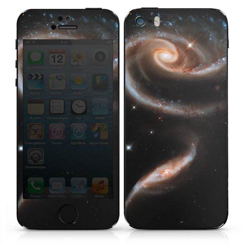Apple iPhone 5 Case Skin Sticker aus Vinyl-Folie Aufkleber Galaxy Space Galaxie DesignSkins® glänzend