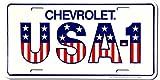 Chevrolet USA NR 1 Alu Nummernschild Alu Flach Neu 15x30cm S3004
