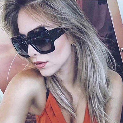 Mitlfuny Women Fashion Square Oversized Luxury Gradient Lens Sunglasses Retro Vintage Large Frame Eyewear (A)