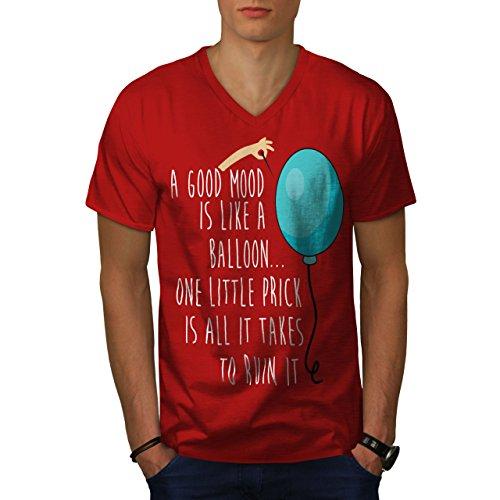 wellcoda Gut Ballon Ruine Männer 2XL V-Ausschnitt T-Shirt