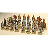 Hochwertige-Schachfiguren-Ritterspiele-Ritter-Mittelalter-Schach