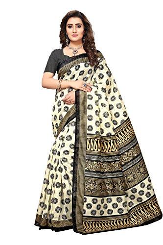 Shreeji Ethnic Women'S Bhagalpuri Silk saree With Blouse Piece(Archana Black)