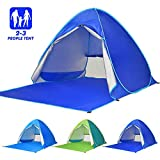 Elover Automatic Beach Tent Pop Up Tent Ourtdoor Portable Sun Shelter for 2-3