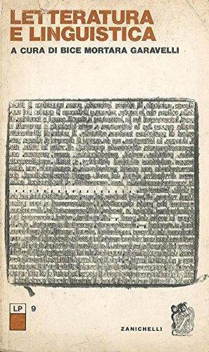 Letteratura e linguistica