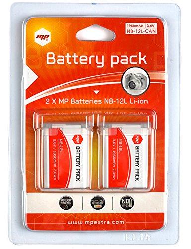 Galleria fotografica 2 x batteria NB12L , NB-12L per CANON PowerShot N100 / PowerShot G1X Mark II / Legria Mini X / Vixia Mini X - MP EXTRA®